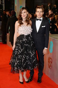 Keira Knightley, in Giambattista Valli Haute Couture, and James Righton | 2015 BAFTA Awards