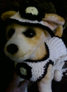 Hand-Crocheted Small Dog Tennis Dress by Toy Togs  URL: http://www.etsy.com/shop/ToyTogs?ref=search_shop_redirect