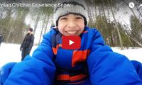 Syrian Children Experience Snow in Ontario Great choice of music! Watch these Syrian children enjoying the snow – tobogganing for the first time in Canada, that will surely put a smile on your face. ..