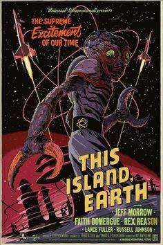 This Island, Earth | Poster por James J. Burguess