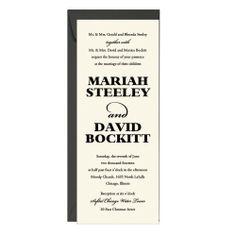 Pullman Wedding Invitation - Mariah & David