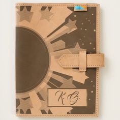 Shop Star Burst Monogram Leather Journal created by BlueRose_Design. Personalize it with photos & text or purchase as is! Leather Notebook, Leather Journal, Moleskine Notebook, Leather Accessories, Cow Leather, Ipad Mini, Personalized Gifts, Diy, Tote Bag