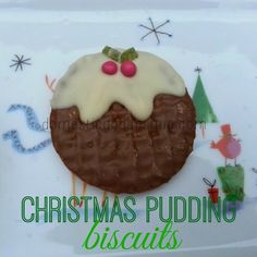 Christmas pudding chocolate biscuit