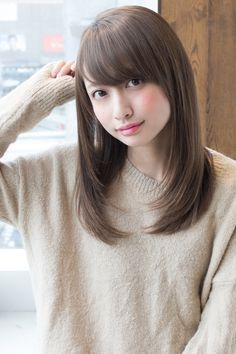 L003554911|アフロートジャパン(AFLOAT JAPAN)のヘアカタログ|ホットペッパービューティー Medium Hair Cuts, Long Hair Cuts, Medium Hair Styles, Long Hair Styles, Hairstyles Haircuts, Pretty Hairstyles, Burgendy Hair, Hd Make Up, Ulzzang Hair