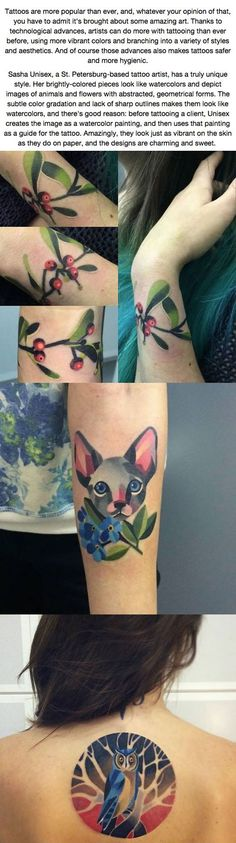 Incredibly Beautiful Tattoos That Look Like Watercolors