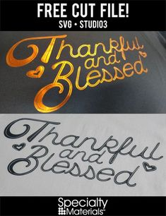 One cut file, two different ways! Looking for a great fall or Thanksgiving shirt? We're offering this cut file for FREE on our website! Come check it out! Plotter Cutter, Thanksgiving Projects, Scan And Cut, Cute Diys, Heat Transfer Vinyl, Cricut Ideas, Cutting Files, Website, Craft