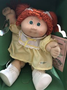 1984 New Cabbage Patch Doll Red Hair/Green Eyes/Original Clothing/Still with box Childhood Memories 90s, 1980s Childhood, Cabbage Patch Kids Dolls, Original Cabbage Patch Dolls, Cabbage Dolls, Red Hair Green Eyes, Vintage Cabbage Patch Dolls, Vintage Dolls, Vintage Toys 80s