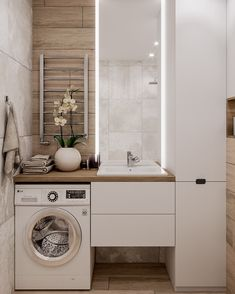 Great Bathroom Decor And Design - Top Style Decor Laundry Room Design, Bathroom Layout, Bathroom Interior, Bathroom Decor, Apartment Design, Bathroom Design Small, Narrow Bathroom, Laundry In Bathroom, Bathroom Interior Design