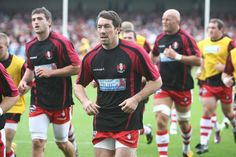 Lap of honour by Gloucester before kick off.