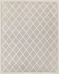 RH TEEN's Amari Trellis Rug:Hand tufted from pure wool, this plush pile rug crosses the line with a sleek trellis of smooth viscose. The clean-lined design offers versatility, long wear and foot-friendly softness.