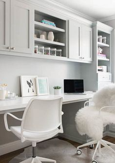 A home office goes from dark and dreary to bright and stylish -- without compromising on function and practicality.