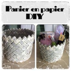 Paper Basket Weaving: The Tubes - Panier en Papier Tissé : Les tubes Recycled Magazine Crafts, Fun Crafts, Diy And Crafts, Origami, Papier Diy, Papercrete, Newspaper Crafts, Paper Basket, Diy Paper
