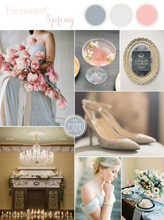 Ethereal Fine Art Wedding in Blue and Blush | The Best Wedding Inspiration Boards of 2015! - http://heyweddinglady.com/best-wedding-inspiration-boards-2015/