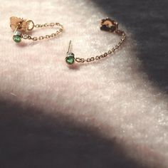 Emerald Chained To My Heart Earrings.