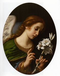 """Carlo Dolci, """"Angelo annunziante"""" Types Of Angels, Saint Gabriel, Archangel Gabriel, Angels Among Us, Acanthus, Blessed Mother, Triptych, Portrait, Mona Lisa"""