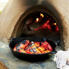 Private chef Michael Emanuel's late-harvest salad gets its surprisingly meaty richness from the sliced red bell peppers he roasts in a clay oven; a br...
