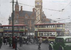 Clock Tower date unknown. Leicester, Old Houses, Transportation, Old Things, Tower, Street View, Clock, History, Architecture