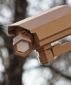 He's watching you...Awesome paper security camera by Bartek Elsner
