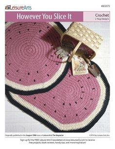However You Slice It Crochet ePattern Watermelon Rugs crochet patterns to make Crochet patterns (aff link)