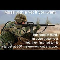 Military Humor although this is a marine in the image it applies to all branches of veterans....