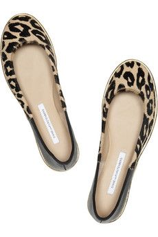 Like these too! Leather and printed calf hair ballet flats--although typing calf hair kind of made me sad :( Diane von Furstenberg $200