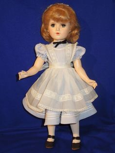 "Vintage 40s Madame Alexander 18"" HP Alice in Wonderland doll, gorgeous…"