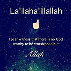 I bear witness that there is no God worthy to be worshipped but ALLAH❗
