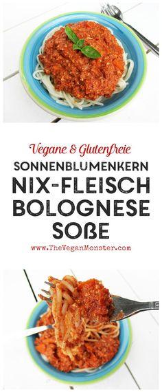 Vegane Glutenfreie Nix Fleisch Sonnenblumenkern Bolognese Sosse Rezept Ohne Soja Ohne Nüsse