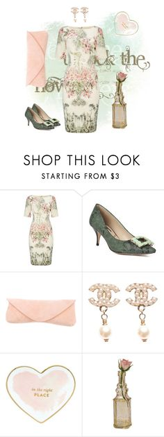 """HAVE FUN!"" by alexandra-agatha ❤ liked on Polyvore featuring Adrianna Papell, Lucy Choi London, Narciso Rodriguez, Chanel, Kate Spade and Cultural Intrigue"