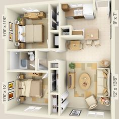 3d Small House Floor Plans Under 1000 Sq Ft Smallhouselover Com