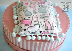 Cat pillow cushion pad Cat furniture Cat bed by WantMoreMeows