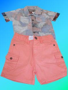 a257cb92e5b Conjunto Camisa e Shorts Menino Brandili Mundi