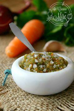 Battuto per sugo – Trito di sedano, carote e cipolla Pickled Eggplant, Italian Cooking, Preserving Food, Antipasto, Pesto, Preserves, Pickles, Pudding, Yummy Food