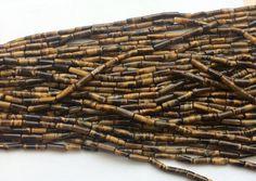 WHOLESALE 5 Strands Tigers Eye Tube Beads Tigers by gemsforjewels