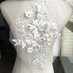 white, nostalgia lace collar patch set couture lace lace ivory lace application black gold Applique lace velvet