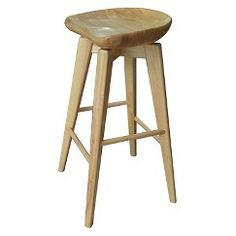 "Boraam Bali Swivel 26"" Counter Stool - Natural- I would spray paint the legs orange"