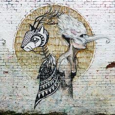 Work by @sokaruno_graffitiart and @herbstkind ● #Berlin, Germany #streetart