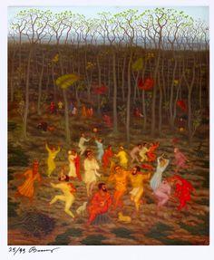 "Arik Brauer ""Tanz im Frühling"" Paul Klee, Vienna School Of Fantastic Realism, Art Day, Artist, Painting, Illustrations, Eye, Image, Art"