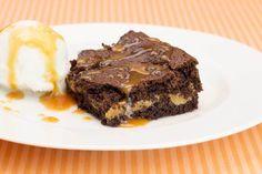 Brownie recheado de doce de leite!!!  :)