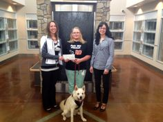 Here's Petsecure's Chantele and Kelly presenting a donation cheque in the amount of $1,634 to Marissa of the Edmonton Humane Society (EHS) for their involvement in our Adoptsecure program.   Hope, the dog in the photo, was adopted by one of the humane society's trainers.