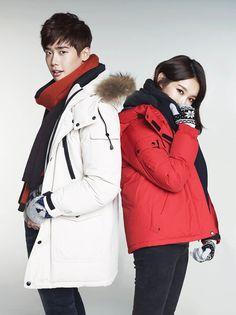 Lee Jong Suk and Davichi's Kang Min Kyung for G by Guess Winter 2014