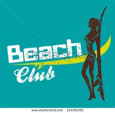 beach club vector art - stock vector