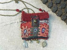 "necklace - pendant- pouch- ""on the road of Bundi"""