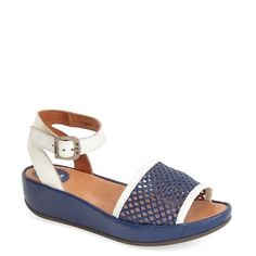 "Fly London 'Beda' Ankle Strap Sandal, 1 1/2"" heel (€225) ❤ liked on Polyvore"