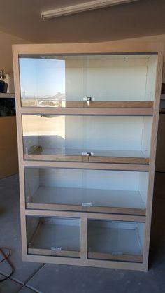 Home made reptile bookcase