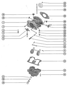 Johnson Fuel Tank Group Parts for 1967 6hp CD-24 Outboard
