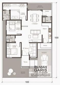 denah rumah tipe 90 di lahan meter yes House Layout Plans, New House Plans, Dream House Plans, House Layouts, House Floor Plans, Modern Floor Plans, Home Design Floor Plans, Contemporary House Plans, Three Bedroom House