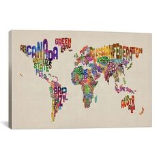 Michael tompsett premium thick wrap canvas wall art print entitled michael tompsett premium thick wrap canvas wall art print entitled flowers map of the world none wrapped canvas walls and smallest house gumiabroncs Choice Image