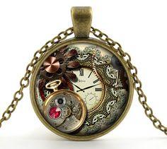 Steampunk Jewelry  Steampunk Necklace  Steampunk by JcbStudio, $11.95