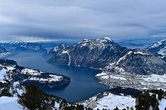 Lake Lucerne in winter